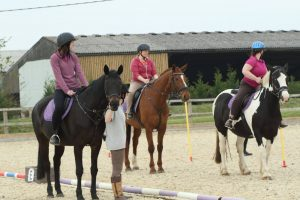 Adult horse riding